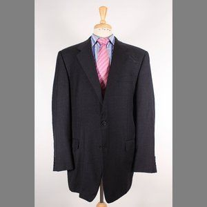 Hickey Freeman 46L Gray Sport Coat B773
